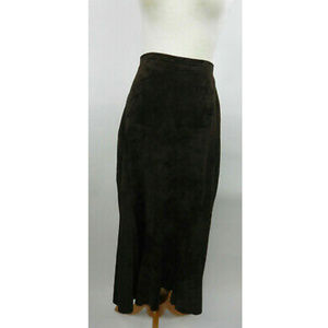 Chico's Design 2 M Skirt Brown Leather Mermaid